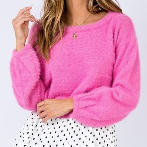 Princess Polly Day After Day Fuzzy Cropped Sweater